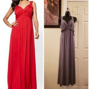 NY&Co. Charcoal GRAY Maxi Dress